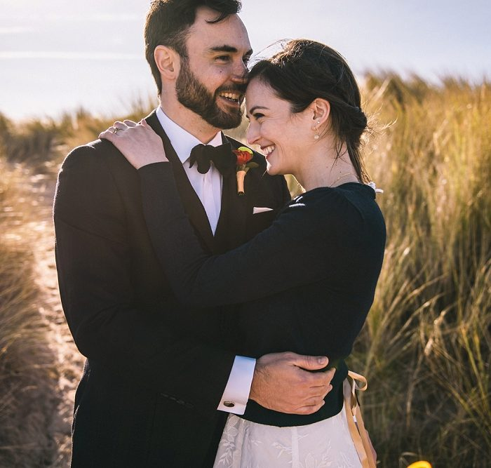 Bamburgh Castle, Champagne, and Beach Elopement for Laura and Gareth