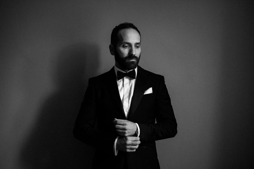 Groom Portrait in Tuxed